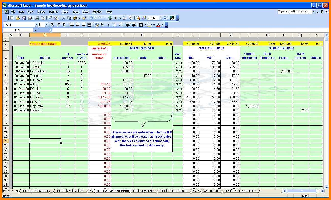 Setting Up A Spreadsheet For Accounts With 9  Excel Spreadsheet For Accounting Templates  Gospel Connoisseur