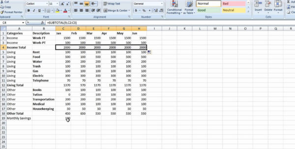 Setting Up An Excel Spreadsheet For Finances Regarding Excel Settings File Setting Up An For Database Access Creating