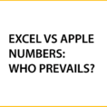 Share Numbers Spreadsheet Inside Microsoft Excel Versus Apple's Numbers: Who Prevails?  Excel With