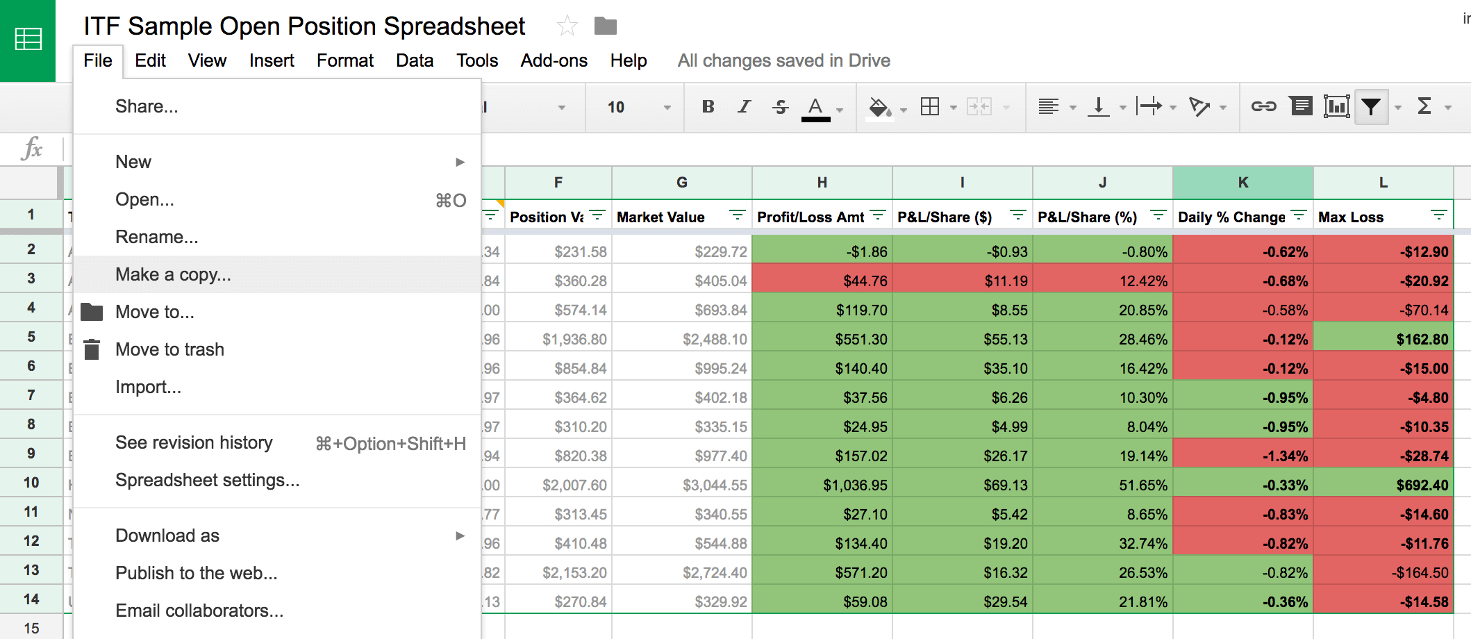 Share Trading Profit Loss Spreadsheet Regarding Learn How To Track Your Stock Trades With This Free Google Spreadsheet