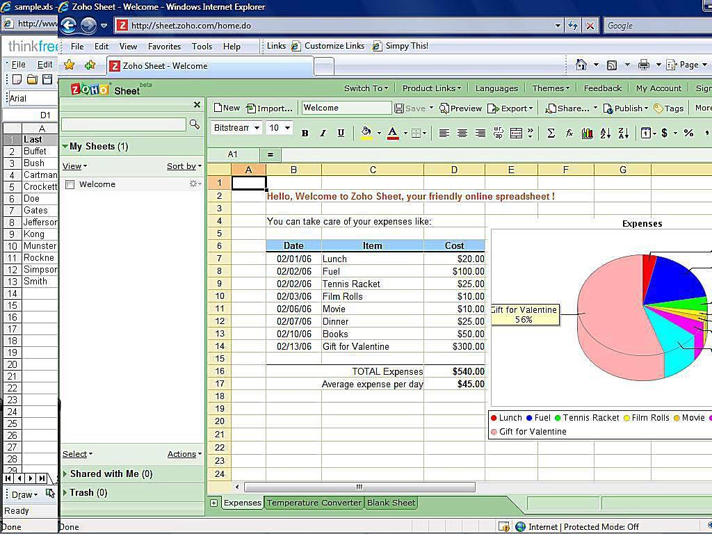 Shared Spreadsheet Online Free In Top Free Online Spreadsheet Software