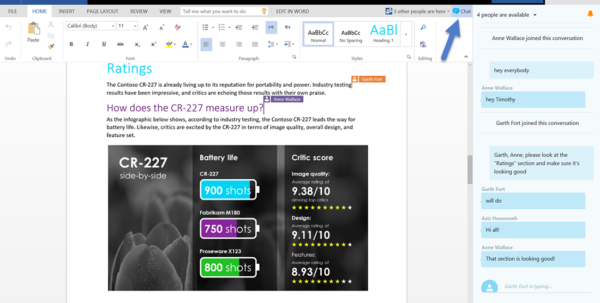 Shared Spreadsheet Online Free Throughout Office Online—Chat With Your Coeditors In Realtime  Microsoft 365