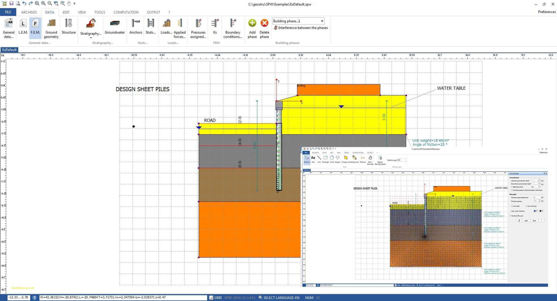 Sheet Pile Wall Design Spreadsheet Spreadsheet Downloa