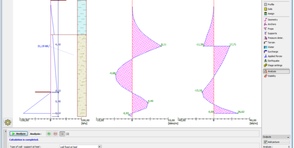 Sheet Pile Wall Design Spreadsheet Within Geo5 Sheeting Design [Geotechnical Design Software  Earth Retaining