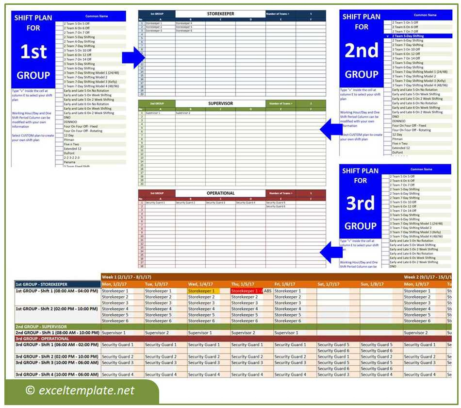 Shift Pattern Spreadsheet Throughout Employee Shift Schedule Generator  Excel Templates