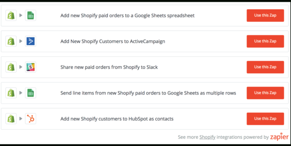 Shopify Spreadsheet For Zapier – Ecommerce Plugins For Online Stores – Shopify App Store Shopify Spreadsheet Google Spreadsheet