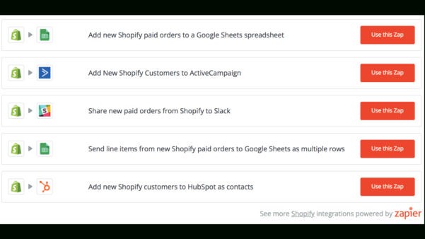 Shopify Spreadsheet For Zapier – Ecommerce Plugins For Online Stores – Shopify App Store