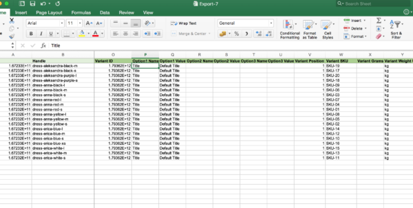 Shopify Spreadsheet Inside How To Group Products Into Products With Variants  Bulk Import