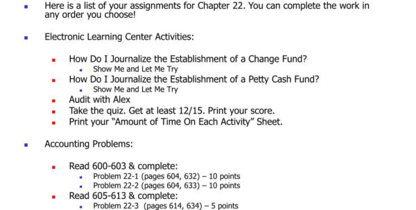 Show Me What A Spreadsheet Looks Like For Ppt  Accounting Ii Chapter 22 Assignment Sheet Powerpoint