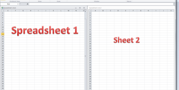 Show Me What A Spreadsheet Looks Like Inside How Do I View Two Sheets Of An Excel Workbook At The Same Time
