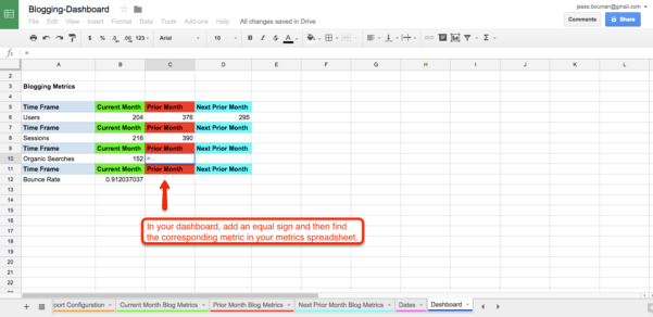 Show Me What A Spreadsheet Looks Like Pertaining To How To Create A Custom Business Analytics Dashboard With Google