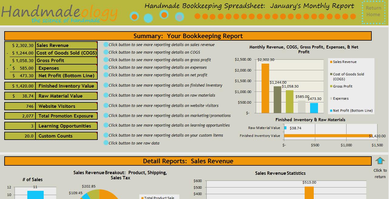 Simple Bookkeeping Spreadsheet Template Free Regarding Handmade Bookkeeping Spreadsheet  Just For Handmade Artists