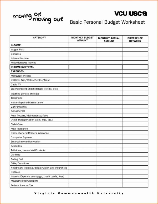 Simple Budget Spreadsheet Regarding Downloadable Household Budget Spreadsheet Download Simple Free Home