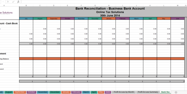 Simple Cash Book Spreadsheet In Free Cashbook Online Tax Solutions