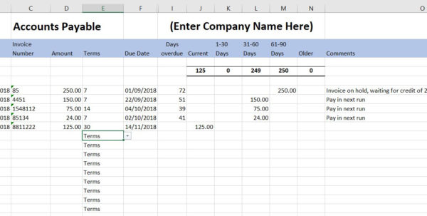 Simple Club Accounts Spreadsheet Within Free Excel Bookkeeping Templates  10 Excel Templates