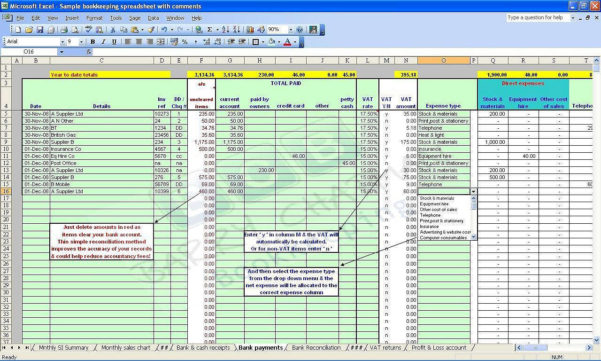 Simple Double Entry Bookkeeping Spreadsheet With Double Entry Accounting Spreadsheet Free Online Bookkeeping Course 7