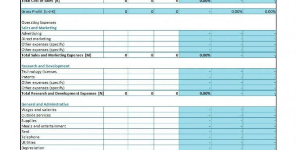 Simple Spreadsheet For Self Employed Intended For 005 Profit And Loss Simple Template ~ Ulyssesroom