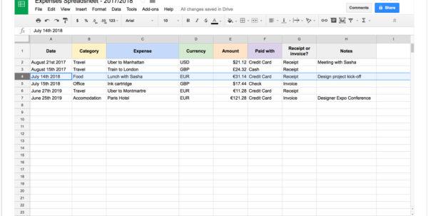 Simple Spreadsheet For Self Employed Throughout Self Employed Spreadsheet Simple Spreadsheet App Free Spreadsheet