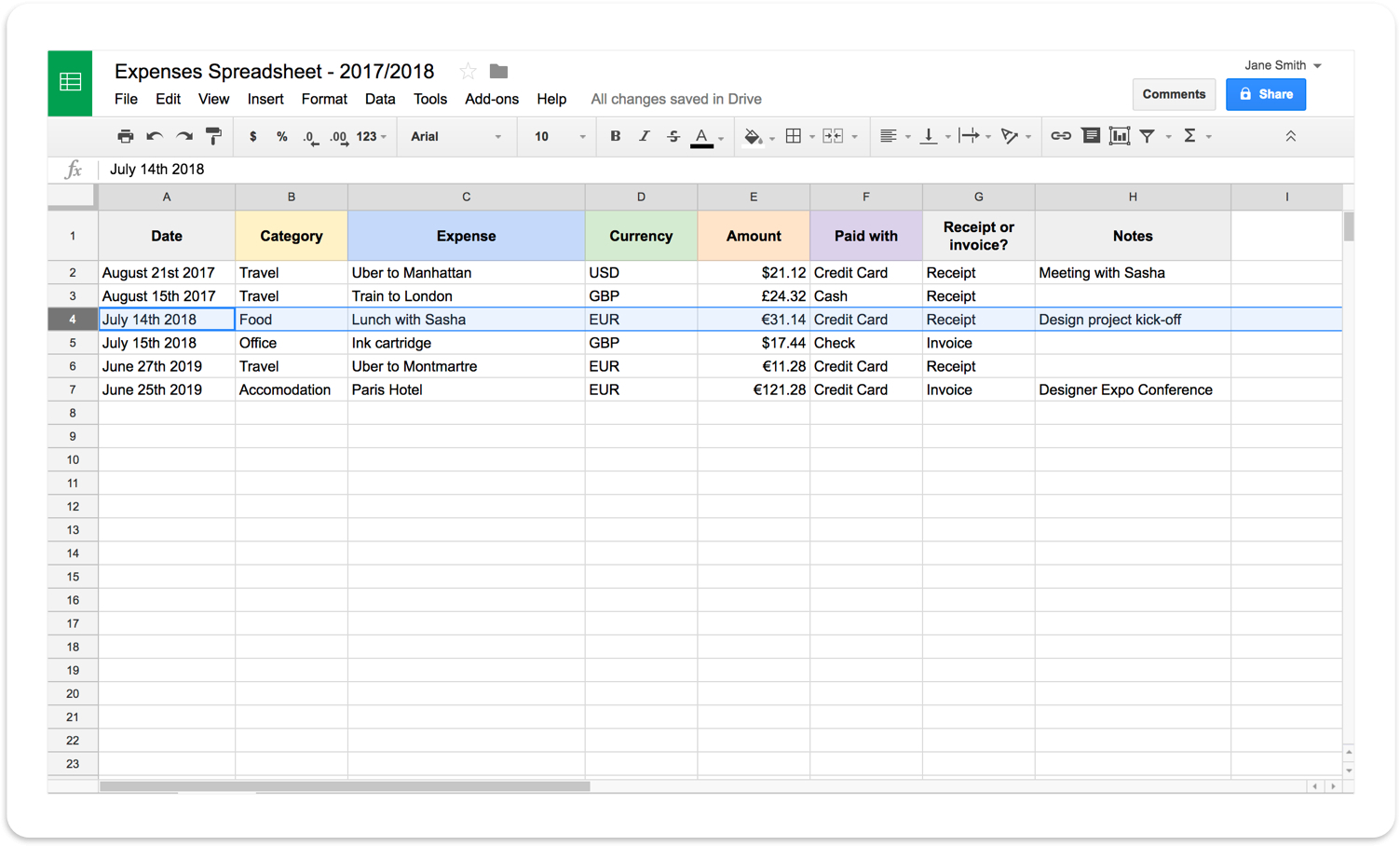 Simple Spreadsheet For Self Employed Throughout Self Employed Spreadsheet Simple Spreadsheet App Free Spreadsheet