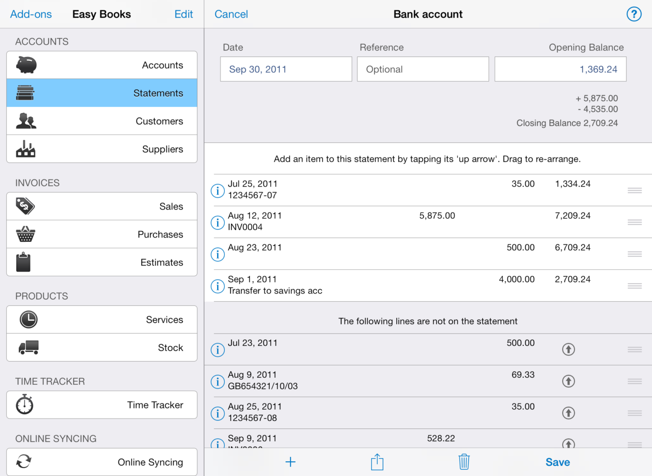 Simplex D Account Book Spreadsheet In Easy Books For Ios  Easy Books