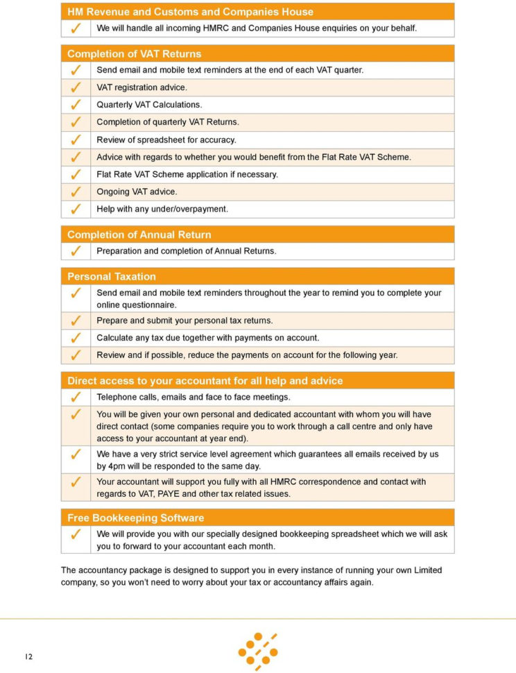 Sjd Accountancy Spreadsheet Within Contractor S Guide. To Running Your Own Limited Company.  Pdf
