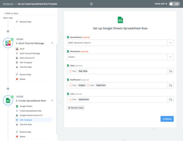 Slack Spreadsheet For Building A Bime Notification Slack Bot – Bime