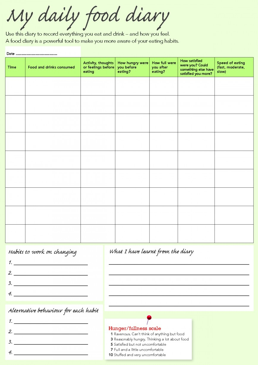 Slimming World Food Diary Spreadsheet Intended For 004 Food Diary Template Excel Ideas ~ Ulyssesroom