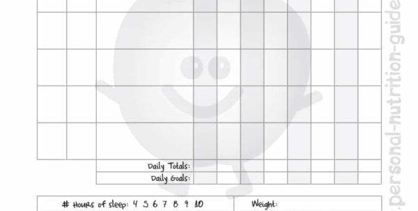 Slimming World Food Diary Spreadsheet With Food Journal  30  Beautiful Templates  Template Archive