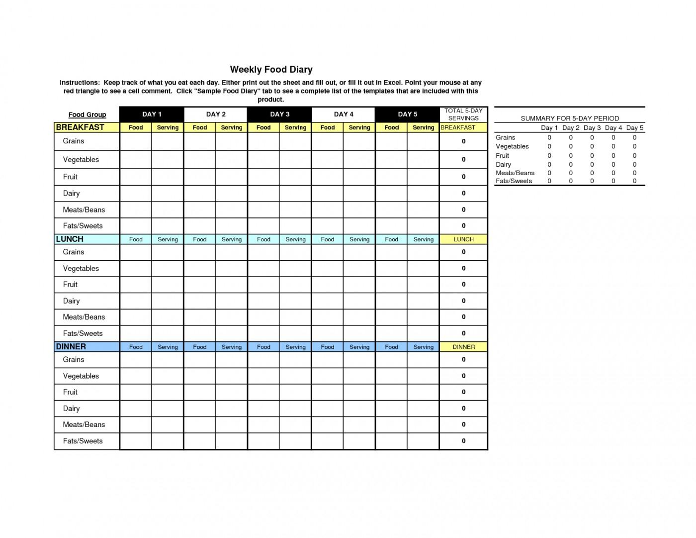 Slimming World Food Diary Spreadsheet With Regard To 003 Template Ideas Food Diary ~ Ulyssesroom
