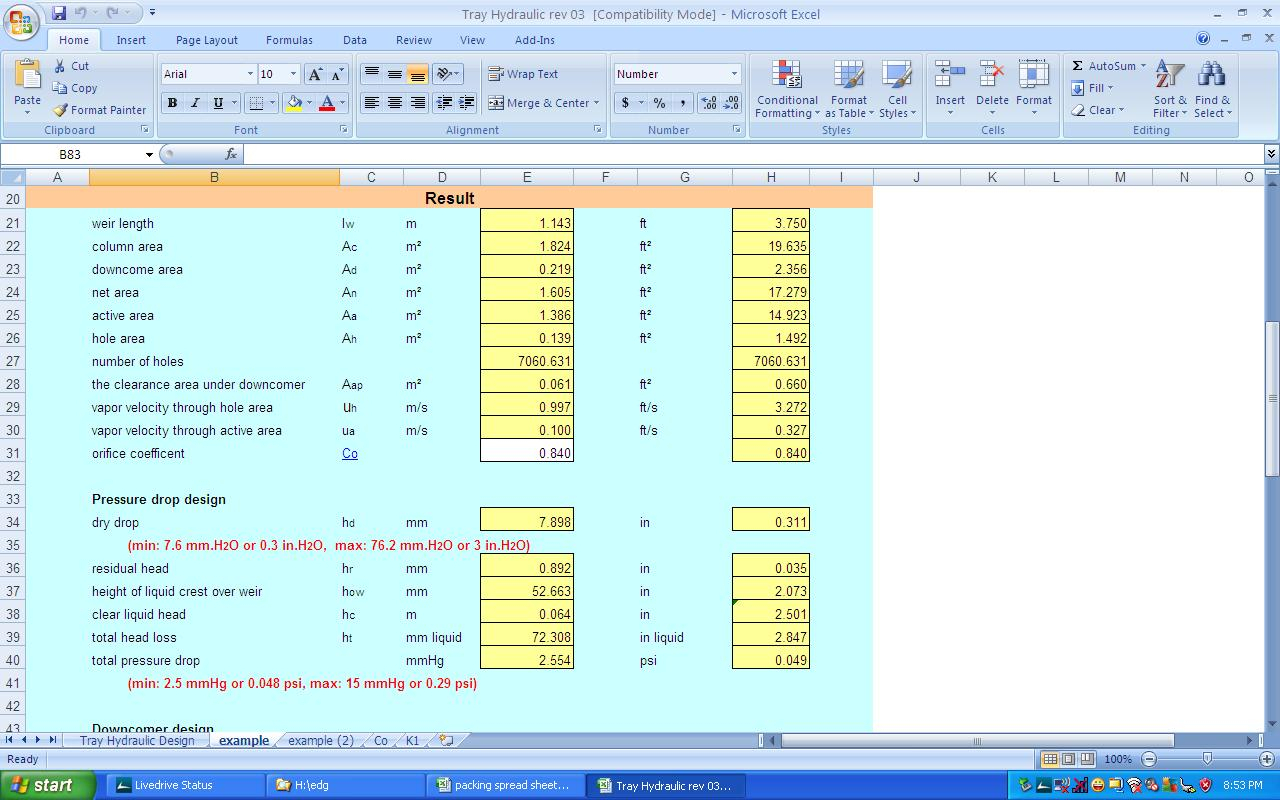 Slug Catcher Sizing Spreadsheet Intended For Kolmetz  Guidelines