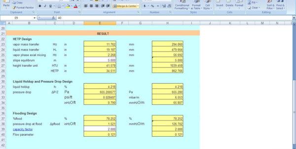 Slug Catcher Sizing Spreadsheet With Kolmetz  Guidelines