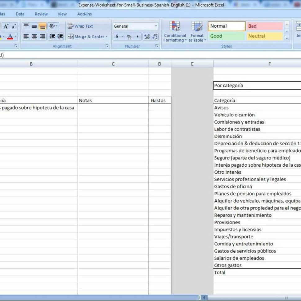 Small Business Expense Spreadsheet In Small Business Expense Spreadsheet  Stalinsektionen