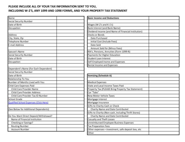 Small Business Tax Preparation Spreadsheet For Business Tax Deductions Worksheet New Tax Return Spreadsheet