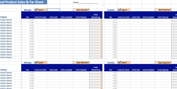 Small Food Business Spreadsheet Intended For Small Food Business  Food Business Tools
