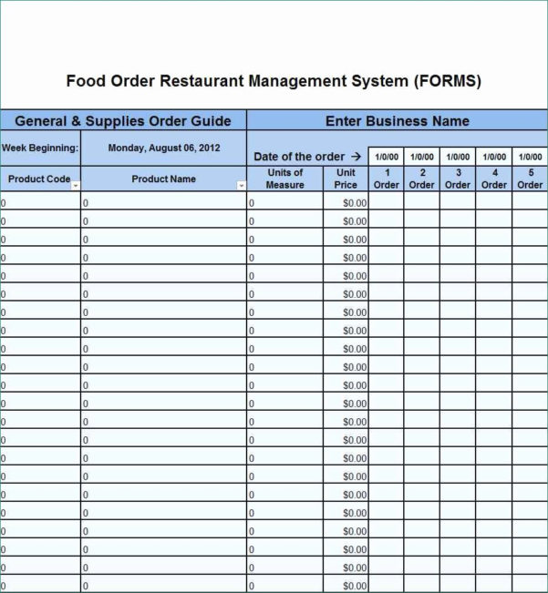 Smallwares Inventory Spreadsheet Pertaining To Food Inventory Spreadsheet Restaurant Template Gorgeous 4 Excel