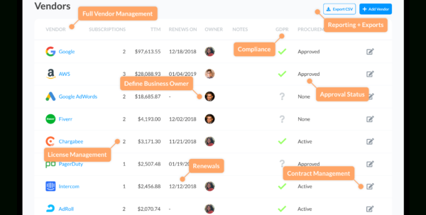 Smart Spreadsheet With Regard To Ditch The Spreadsheet: Track Saas Subscriptions The Smart Way
