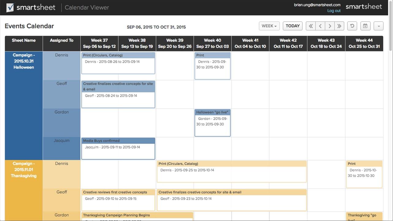 Smartsheet Spreadsheet Iphone For Calendar Applicationsmartsheet  Smartsheet