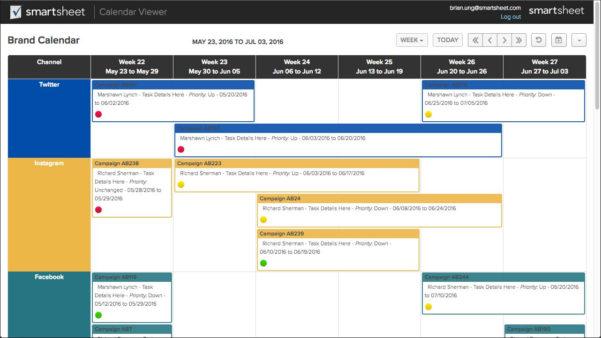 Smartsheet Spreadsheet Iphone With Calendar Applicationsmartsheet  Smartsheet