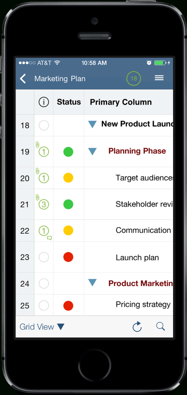 Smartsheet Spreadsheet Iphone With Smartsheet Launches Version 2.0 Of Ipad/iphone App, Bringing Fully