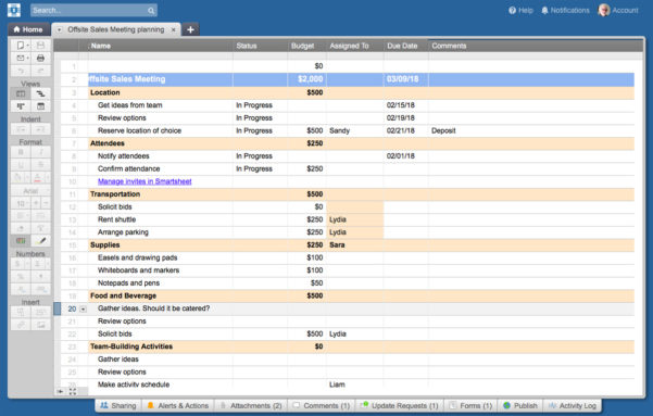 Smartsheet Spreadsheet With 10 Smartsheet Tips And Tricks  Computerworld