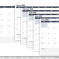 Smartsheet Spreadsheet With Regard To Make A 2018 Calendar In Excel Includes Free Template