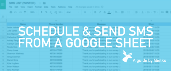 Sms To Google Spreadsheet Intended For Schedule Sending Sms From Google Sheet – 46Elks – Medium