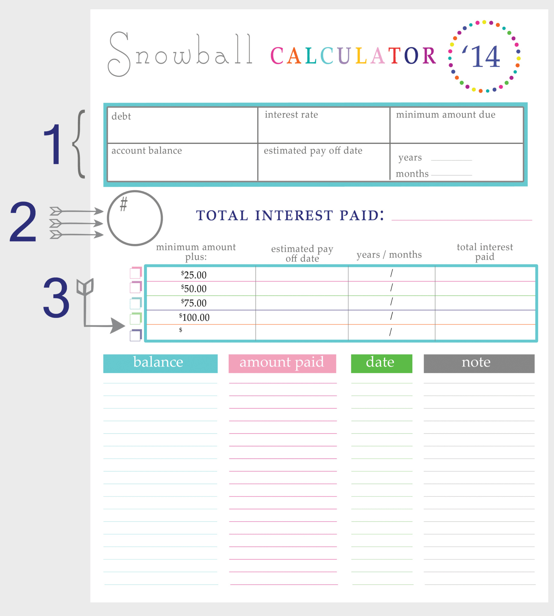 Snowball Method Spreadsheet Regarding Snowball Method Spreadsheet – Spreadsheet Collections