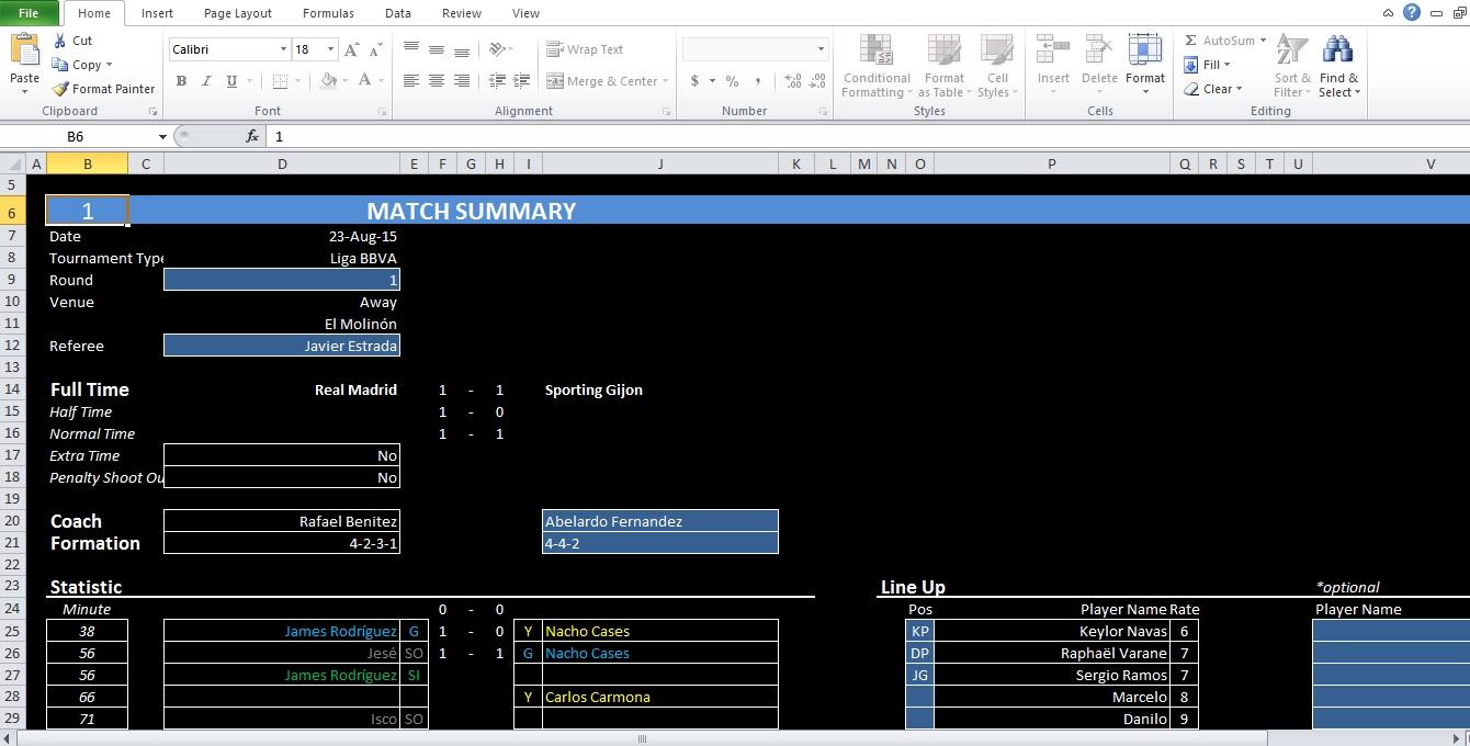 Soccer Excel Spreadsheet Inside Soccer Stats Excel Spreadsheet Template  Excel Tmp