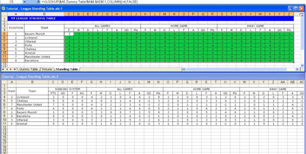 Soccer Excel Spreadsheet Intended For Create Your Own Soccer League Fixtures And Table  Excel Templates