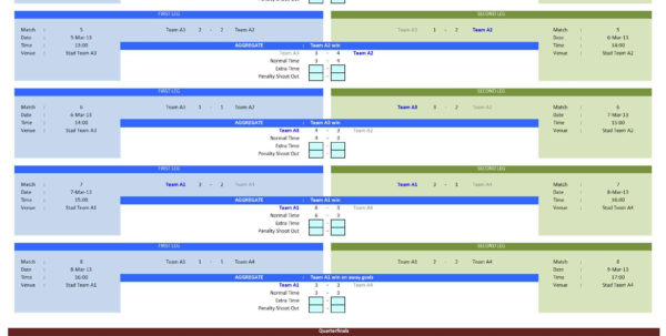 Soccer Excel Spreadsheet Regarding Soccer Tournament Creator Template For Excel  Excelindo