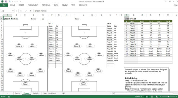 Soccer Excel Spreadsheet Throughout Soccer Roster Free Excel Template  Excel Templates For Every Purpose