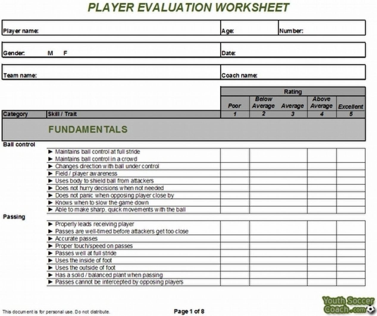 Soccer Tryout Evaluation Spreadsheet Inside Youthsoccer Evaluation Forms #478139809206 – Soccer Tryout