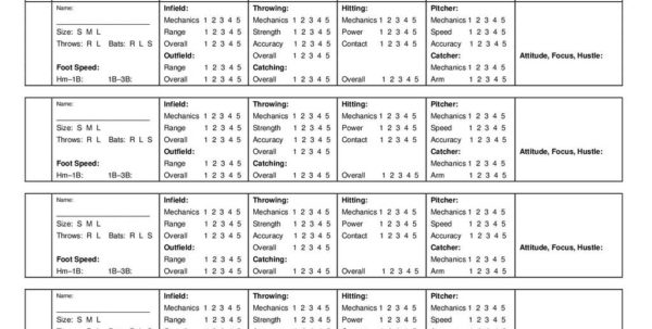Soccer Tryout Evaluation Spreadsheet With Soccer Player Evaluation Sheet  Www.miifotos