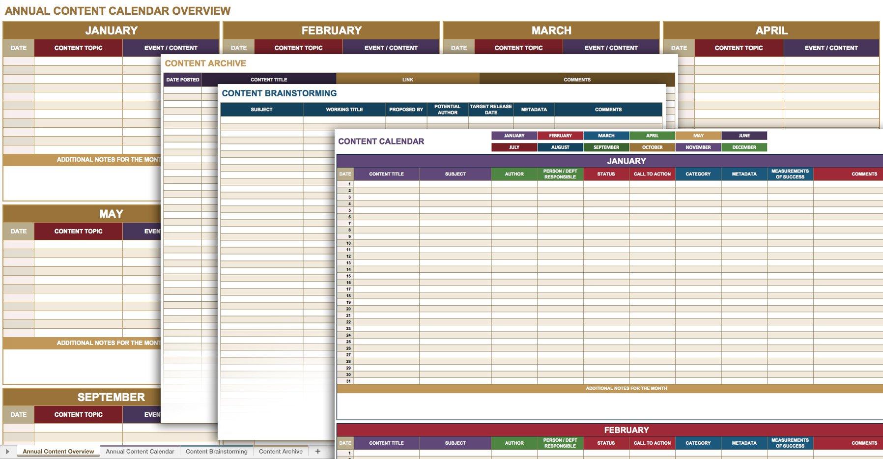 Social Media Calendar Spreadsheet For 12 Free Social Media Templates  Smartsheet